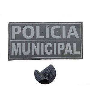 Placa Identificadora Emborrachada Para Costa Do Colete Polícia Municipal