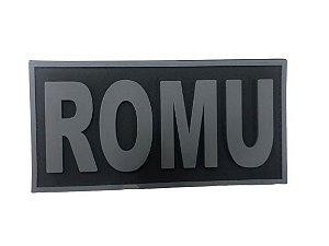 Placa Identificadora Emborrachada Para Costa Do Colete Romu 3D