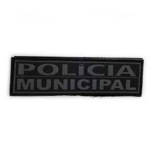 Tarjeta Emborrachada Para Frente Do Colete Policia Municipal
