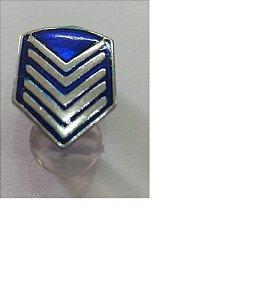 Divisa De Gola 1º Sargento Pm De Metal