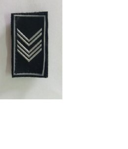 Divisa De Gola Emborrachada 1ª Sargento Pm