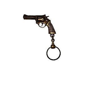 Chaveiro Em Metal Revolver 4 Polegadas