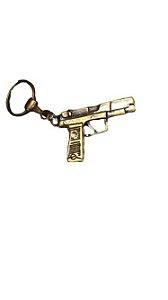 Chaveiro Em Metal Pistola