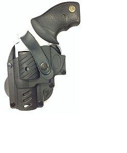Coldre De Polímero Para Revólver Taurus 5 Tiros - Canhoto