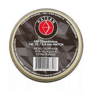 Chumbinho Hatsan 5.5mm (.22) Match Champion - 100 Unidades