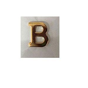 Letra B Metálica Para Braçal