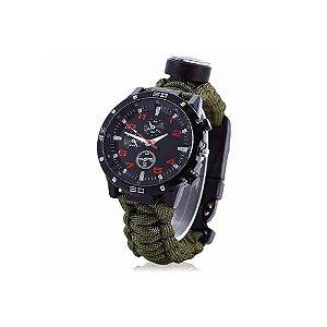 Relógio de Paracord para Sobrevivência com várias funções