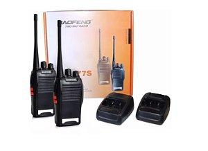 Kit 2 Rádios Comunicadores Walk Baofeng 777s