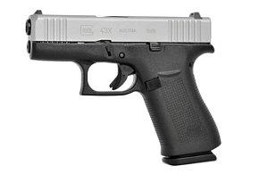 PISTOLA G43X ferrolho de prata - Subcompacto 9 mm Luger