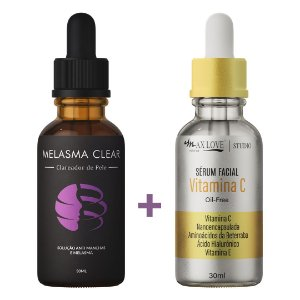 Kit 1 Melasma Clear +  1 Vitamina C - Clareador de Machas