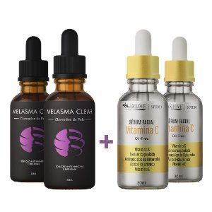 Kit 2 Melasma Clear +  2 Vitamina C - Clareador de Manchas