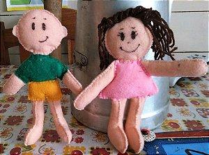 Boneco Menino e Menina