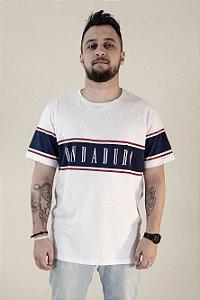 Camiseta Branca c/ faixa - Masculina