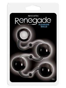 Cordão com bolas Pleasure Balls Renegade preto