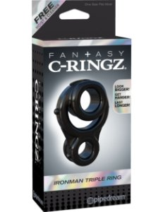 Anel Peniano Ironman Triple Ring Fantasy C-Ringz