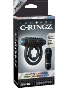 Anel Peniano vibratório com controle remoto Performance Pro Fantasy C-Ringz
