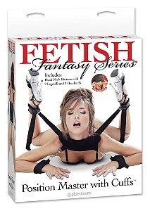 Kit de Amarras com Tornozeleira e Algemas Position Master Fetish Fantasy