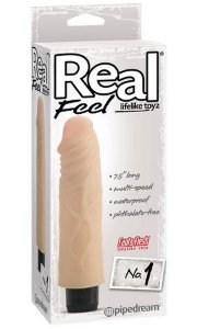 Dildo Vibratório Real Feel 1 (17,0 x 4,0 cm)