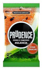 Preservativo Prudence Cores e Sabores Melancia com 3 Unidades