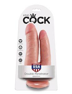 Dildo de dupla penetração King Cock Pele Branca