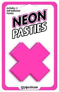 Adesivos para mamilo Neon Pasties Rosa