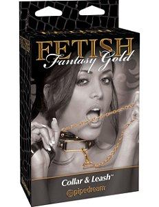 Coleira Fetish Fantasy Gold