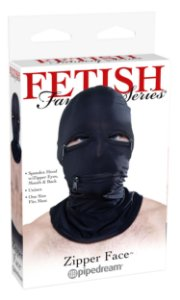 Máscara Zíper Face Hood Fetish Fantasy