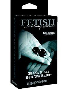 Bolas de pompoarismo Fetish Fantasy Edição Limitada Média Preta
