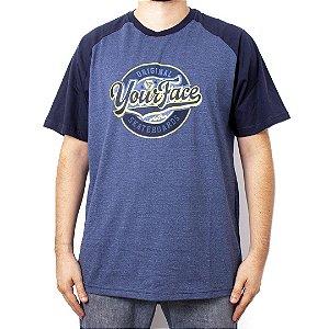 Camiseta Raglan Azul