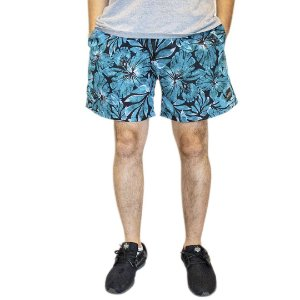 Shorts Floral Azul