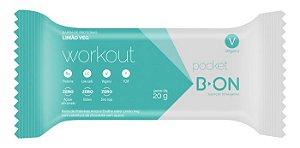 16 Barrinhas Pocket Workout Limão Veg 20g B-on