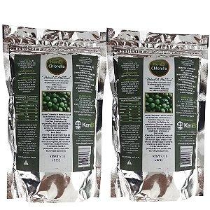 2 Chlorella 100% Pura 1200 Comprimidos Kenbi