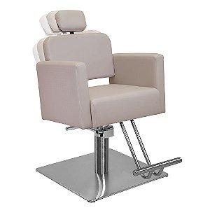 Cadeira de Cabeleireiro Toscana Encosto Reclinável com Cabeçote