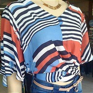 blusa Cropped estampado