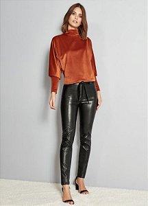 Calça em leather  preta