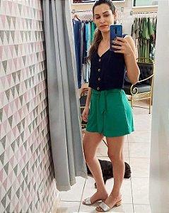 Blusa cropped azul