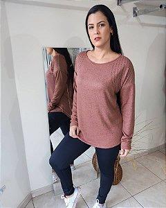 blusa manga longa tricot