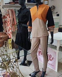 calça legging cor lateral