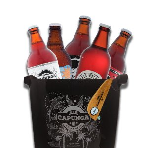 Kit 5 cervejas + Balde + Abridor