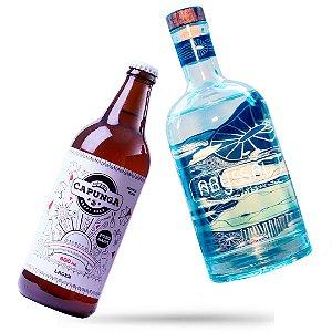 12 Capunga Lager 600ml + Gin Abyssal (SO HOJE)