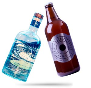 6 Bala de Prata 600ml + Gin Abyssal