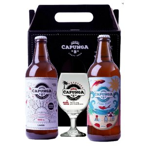 KIT CAPUNGA LAGER 600ML + PILSEN PRAIA 600ML + TAÇA GALLANT