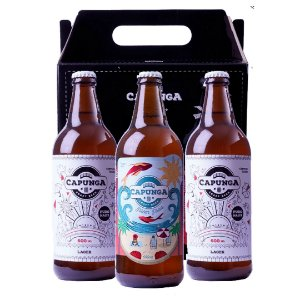KIT MARESIA: 2 CAPUNGA LAGER 600ML + PILSEN PRAIA 600ML