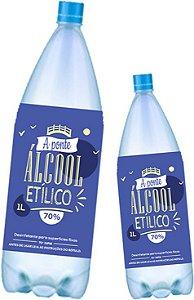 12 Álcool Líquido 70% - A PONTE - 1L