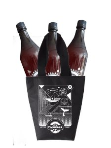 5 LITROS DE CHOPP LAGER + SACOLA TÉRMICA CAPUNGA (CABEM 3 GROWLERS 1L) - PET GROWLER INCLUSO