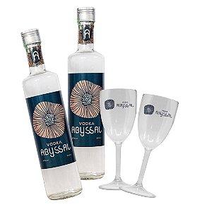 2 Vodka Abyssal 500ml + 2 Taça Abyssal (LANÇAMENTO)