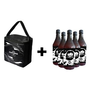 KIT BOLSA TÉRMICA BASIC + 5 GROWLERS 1L CUMADE FLORZINHA