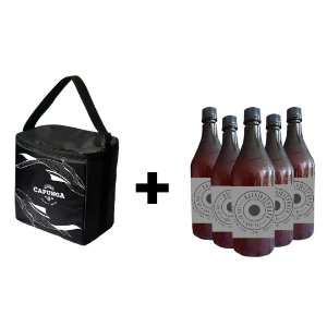 KIT BOLSA TÉRMICA BASIC + 5 GROWLERS 1L BALA DE PRATA