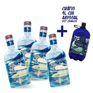 4 GIN ABYSSAL 750ML (GRÁTIS 1L GIN ABYSSAL REFIL)