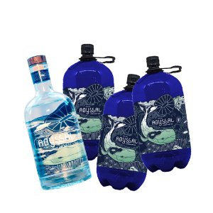 3 REFIS GIN ABYSSAL 1L + 1 GIN ABYSSAL 750ml (GRÁTIS)
